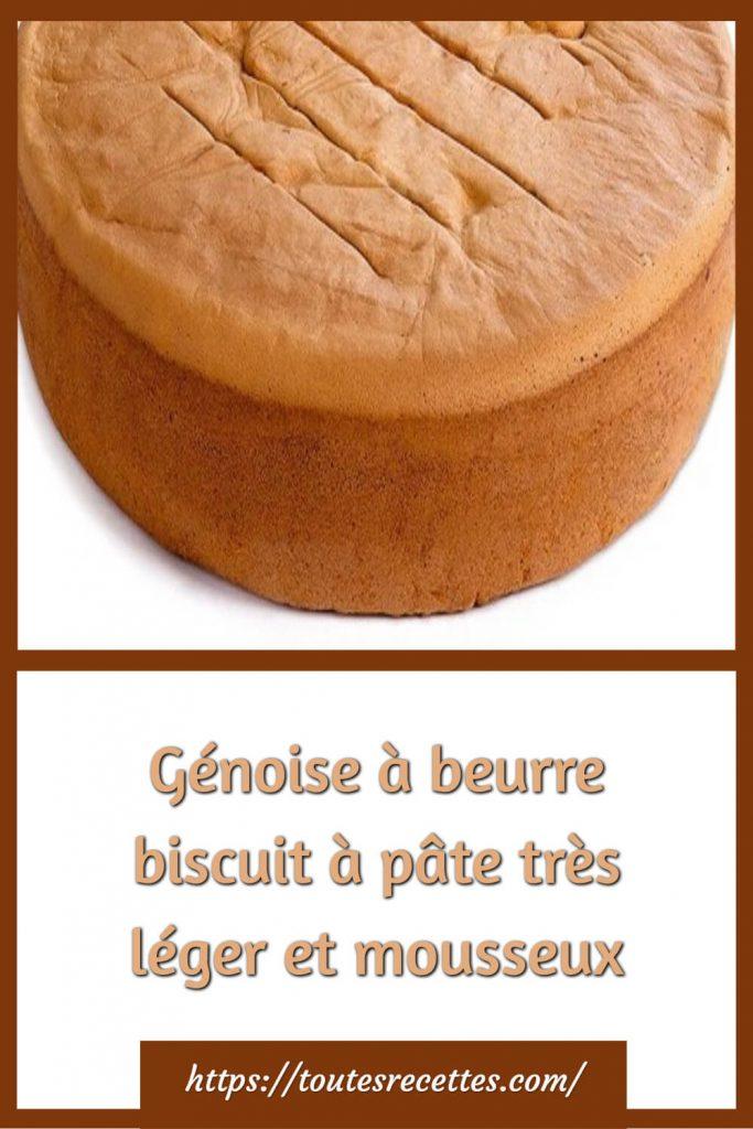 Comment préparer la Génoise à beurre biscuit à pâte très léger et mousseux