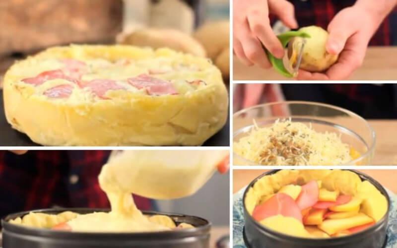 La « Tartagnarde », une tarte Tatin salée façon raclette