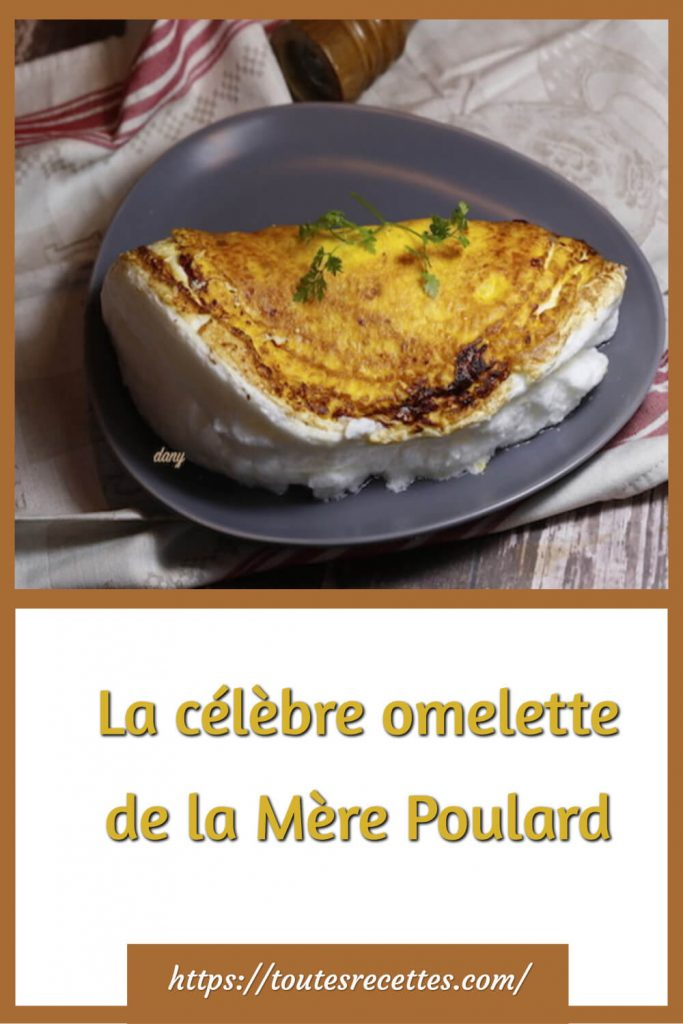 Comment préparer La célèbre omelette de la Mère Poulard