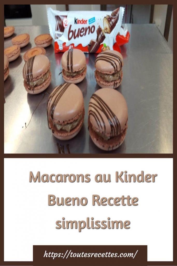 Comment préparer des Macarons au Kinder Bueno