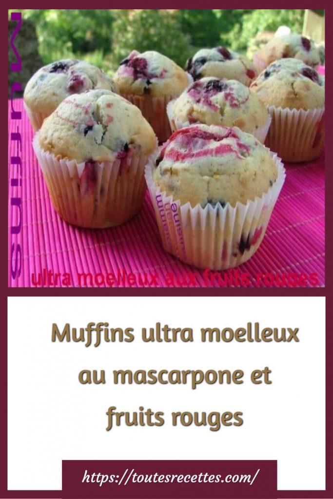 Comment préparer les Muffins ultra moelleux au mascarpone et fruits rouges