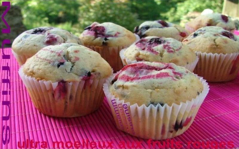 Muffins ultra moelleux au mascarpone et fruits rouges