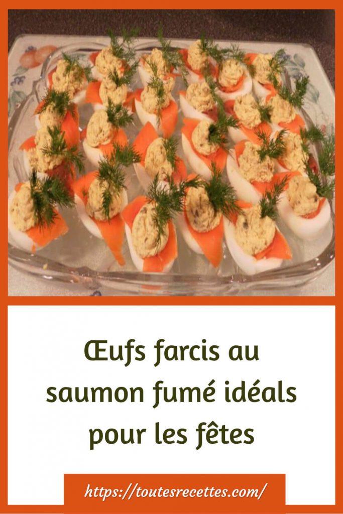 Comment préparer les Œufs farcis au saumon fumé