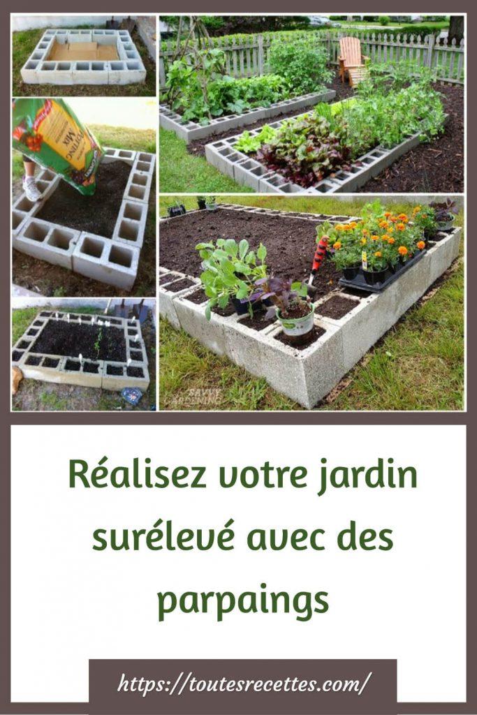 Réalisez votre jardin surélevé avec des parpaings