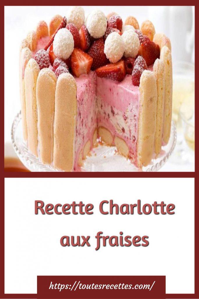 Comment préparer la Recette de la Charlotte aux fraises
