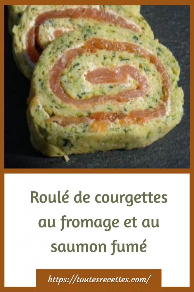 Comment préparer le roulé de courgettes au fromage et au saumon fumé