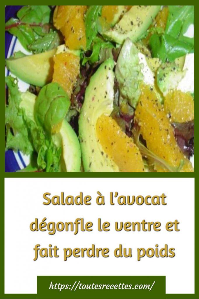 Comment préparer la Salade à l'avocat dégonfle le ventre et fait perdre du poids
