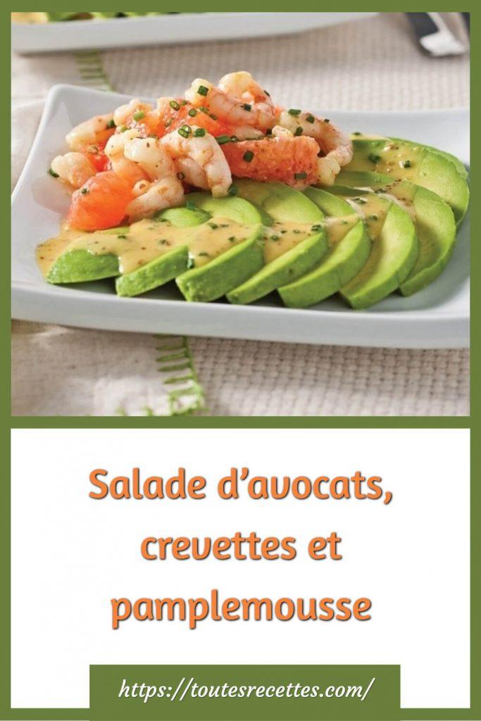 Comment préparer la Salade d'avocats, crevettes et pamplemousse