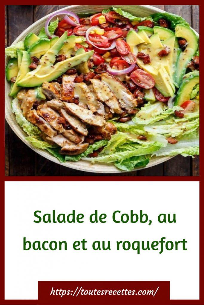 Comment préparer la Salade de Cobb, au bacon et au roquefort