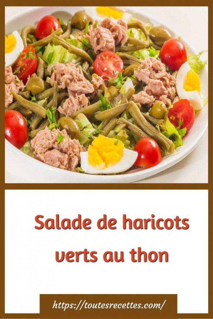 Comment préparer Salade de haricots verts au thon: