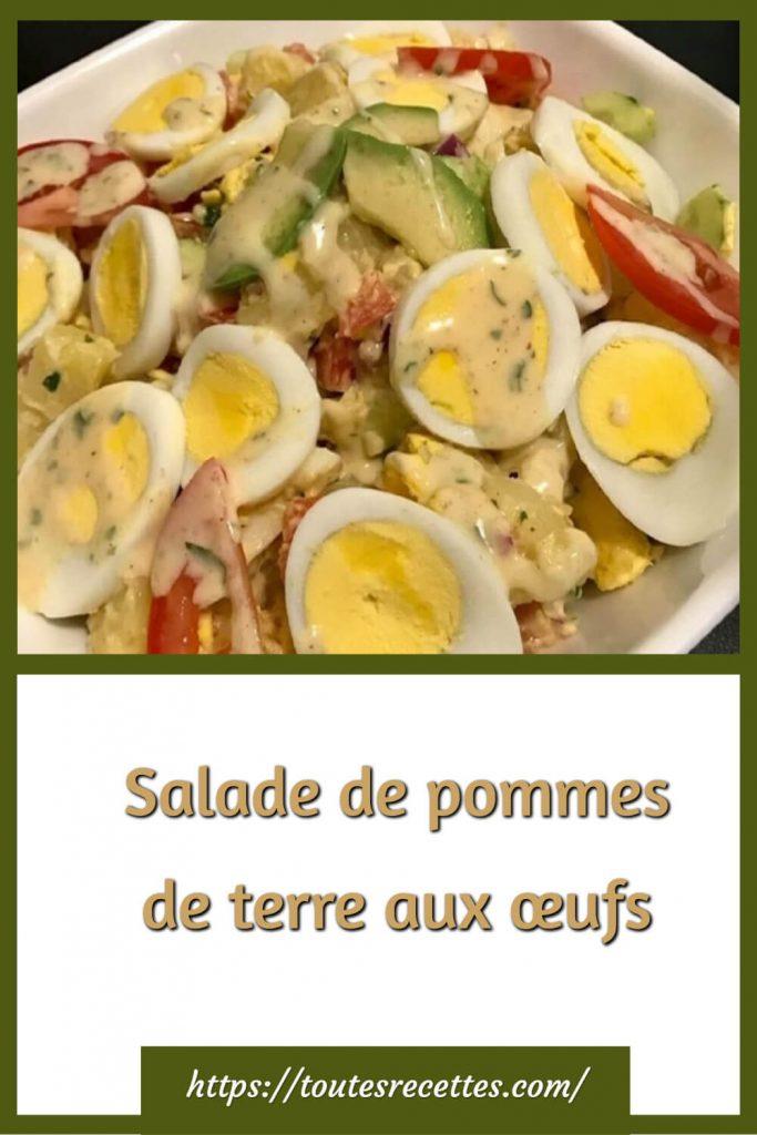 Comment préparer la Salade de pommes de terre aux œufs