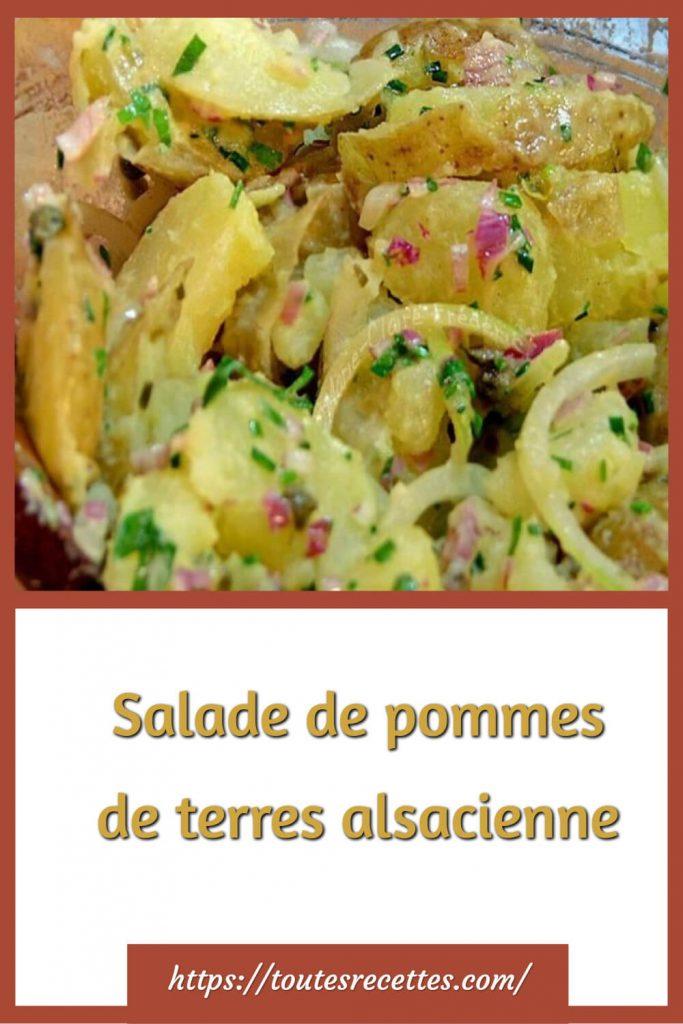 Comment préparer la Salade alsacienne de pommes de terre et lardons