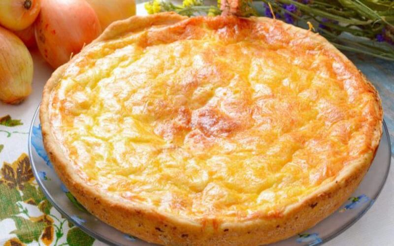 Tarte salée à l'oignon et au fromage blanc