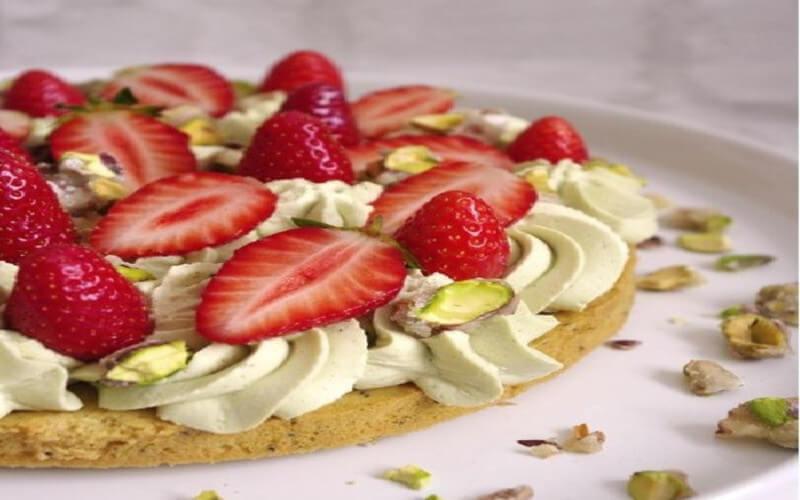 Tarte aux fraise et à la pistache idée dessert