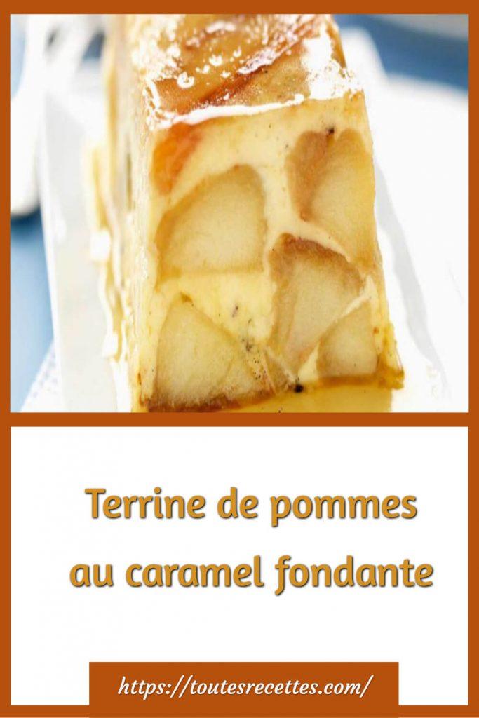 Comment préparer la Terrine de pommes au caramel