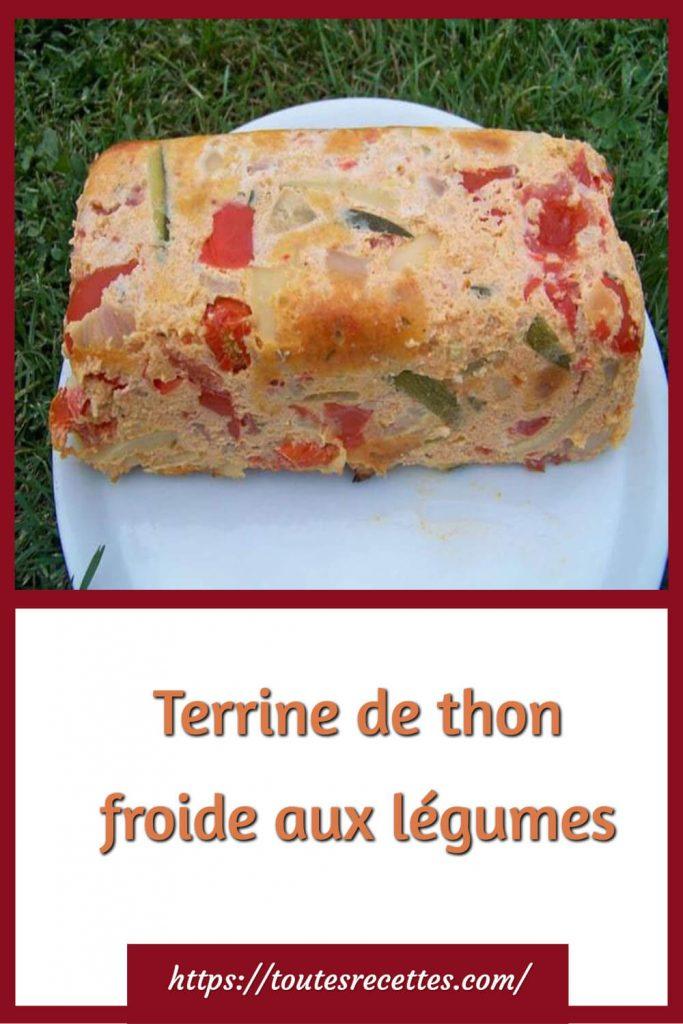 Comment préparer la Terrine de thon froide aux légumes