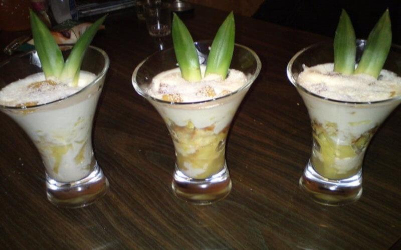 Tiramisu ananas et noix de coco en verrines