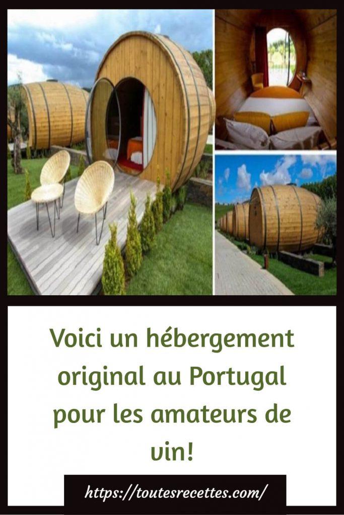 Voici un hébergement original au Portugal pour les amateurs de vin!