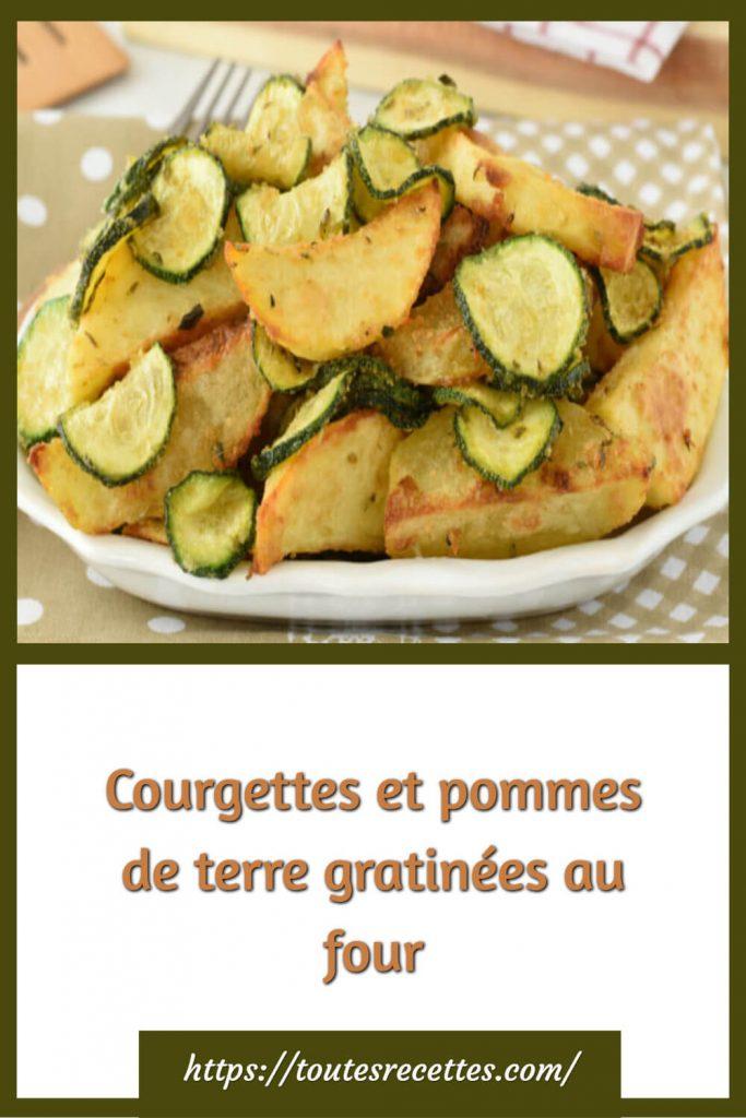 Comment préparer les Courgettes et pommes de terre gratinées au four