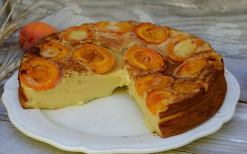 Far aux Abricots texture bien épaisse et ferme