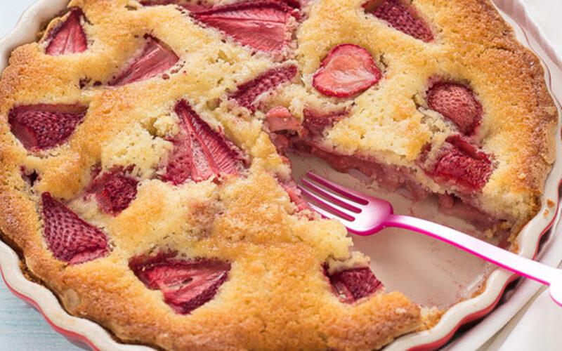 Gâteau au yaourt et aux Fraises dessert Léger