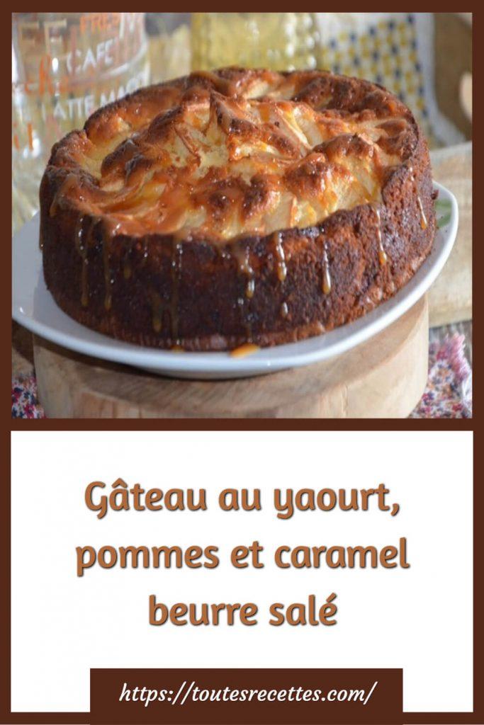 Comment préparer le Gâteau au yaourt pommes et caramel beurre salé