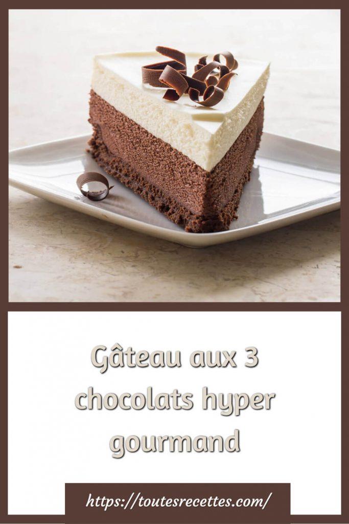 Comment préparer le Gâteau aux 3 chocolats hyper gourmand