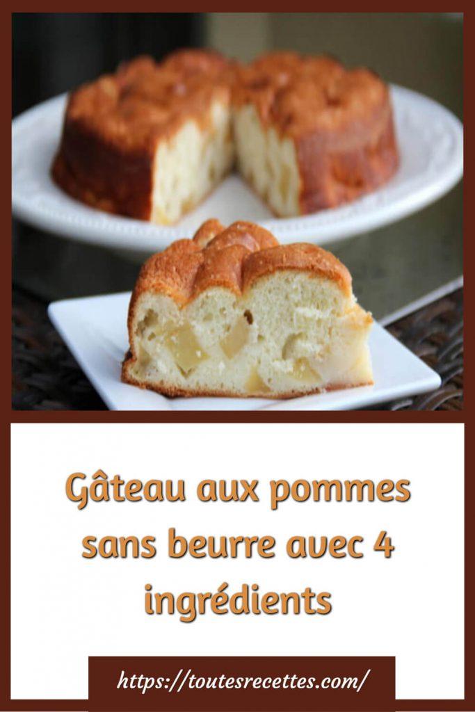 Comment préparer le Gâteau aux pommes sans beurre avec 4 ingrédients