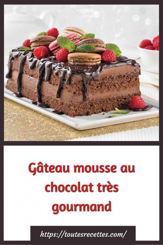 Comment préparer le Gâteau mousse au chocolat