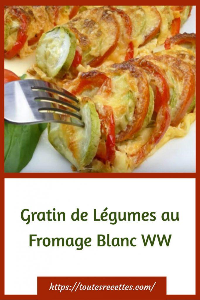Comment préparer le Gratin de Légumes au Fromage Blanc WW
