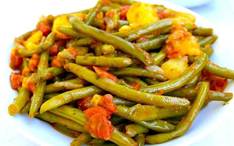 Haricots verts à l'italienne cuits à la poêle