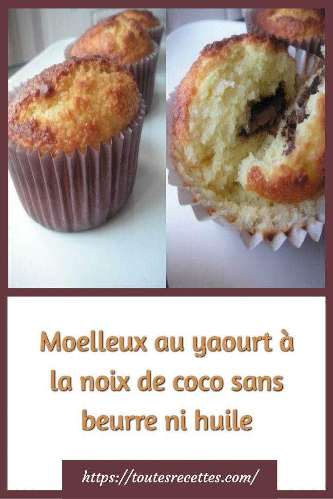 Comment préparer les Moelleux au yaourt à la noix de coco sans beurre ni huile
