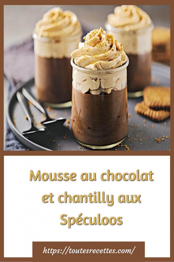 Comment préparer la Mousse au chocolat et chantilly aux Spéculoos