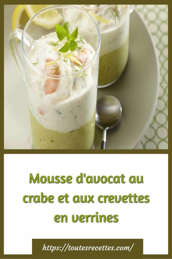 Comment préparer la Mousse d'avocat au crabe et aux crevettes en verrines