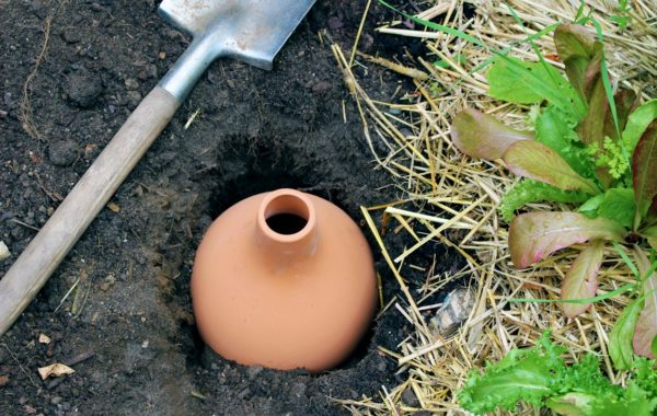 Utiliser des Oyas à enterrer