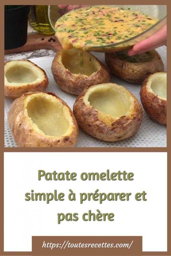 Comment préparer la Patate omelette simple et pas chère
