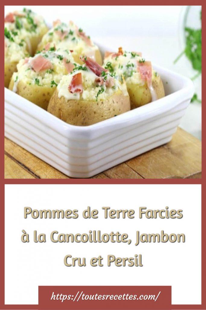 Comment préparer les Pommes de Terre Farcies à la Cancoillotte, Jambon Cru et Persil