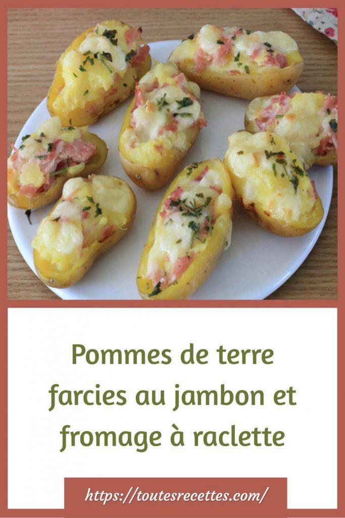 Comment préparer Pommes de terre farcies au jambon et fromage