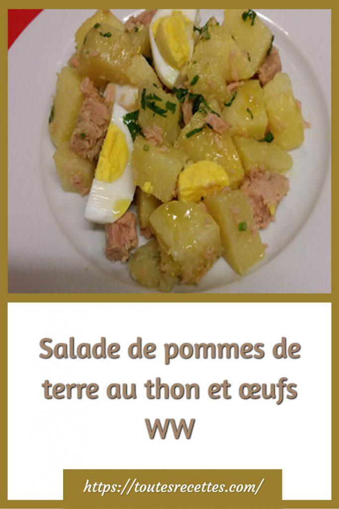 Comment préparer la Salade de pommes de terre au thon et œufs WW