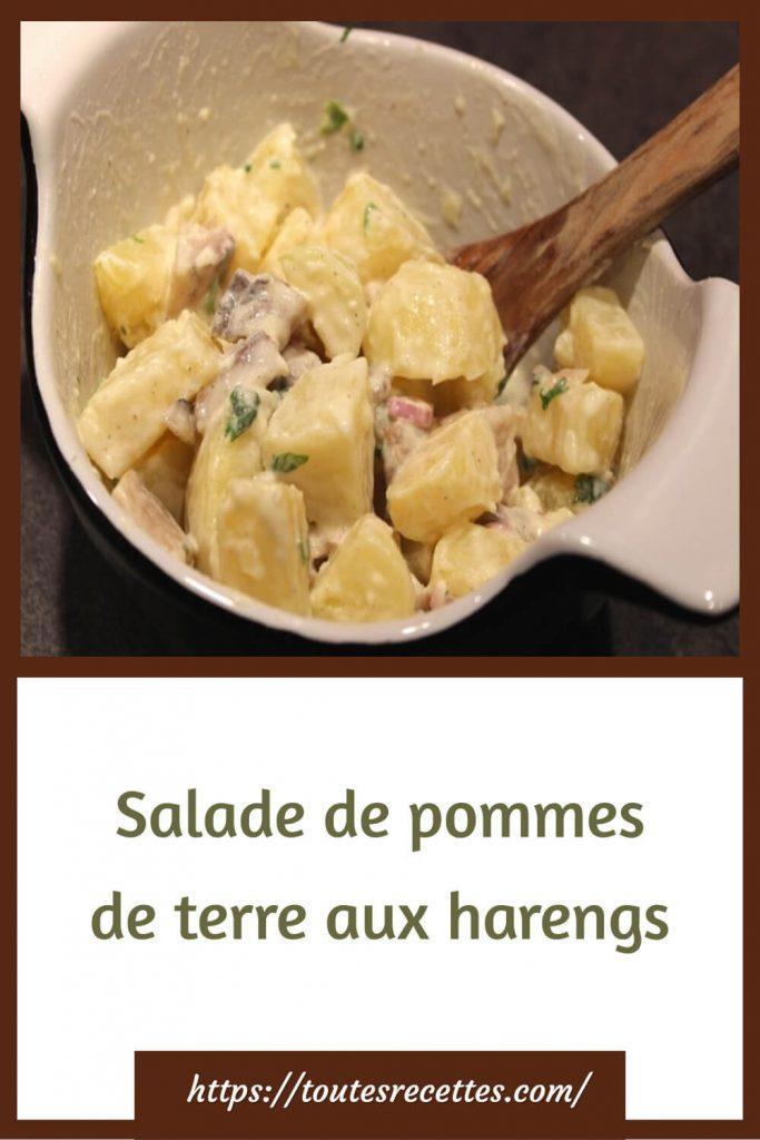 Comment préparer la Salade de pommes de terre aux harengs