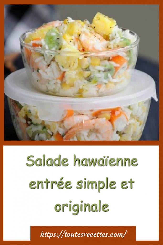 Comment préparer la Salade hawaïenne entrée simple et originale