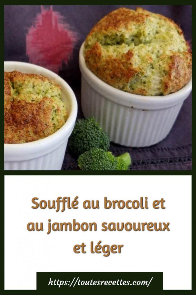 Comment préparer le Soufflé au brocoli et au jambon savoureux et léger