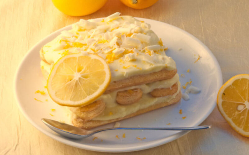 Tiramisu au citron à la vanille dessert léger