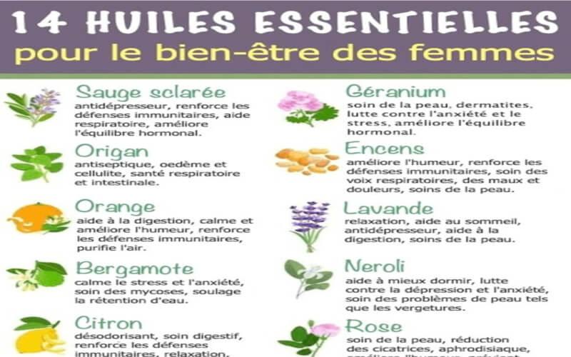 14 huiles essentielles pour le bien-être des femmes