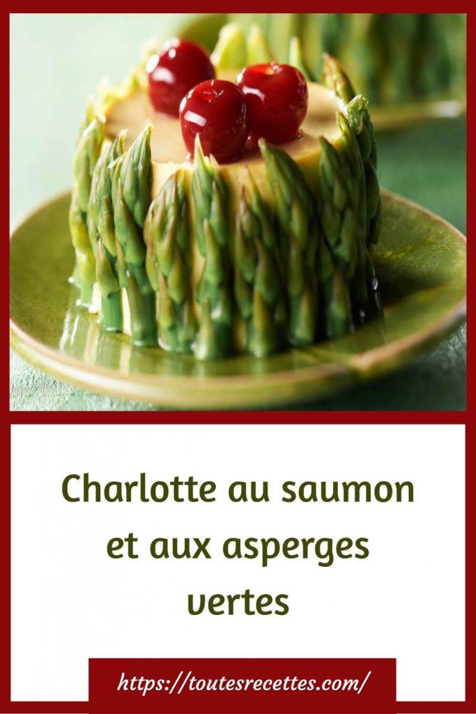 Comment préparer la Charlotte au saumon et aux asperges vertes