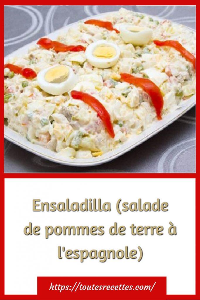 Commentpréparerla Ensaladilla (salade de pommes de terre à l'espagnole)