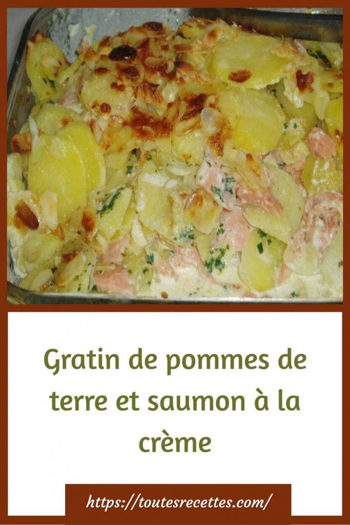 Comment préparer le Gratin de pommes de terre et saumon à la crème