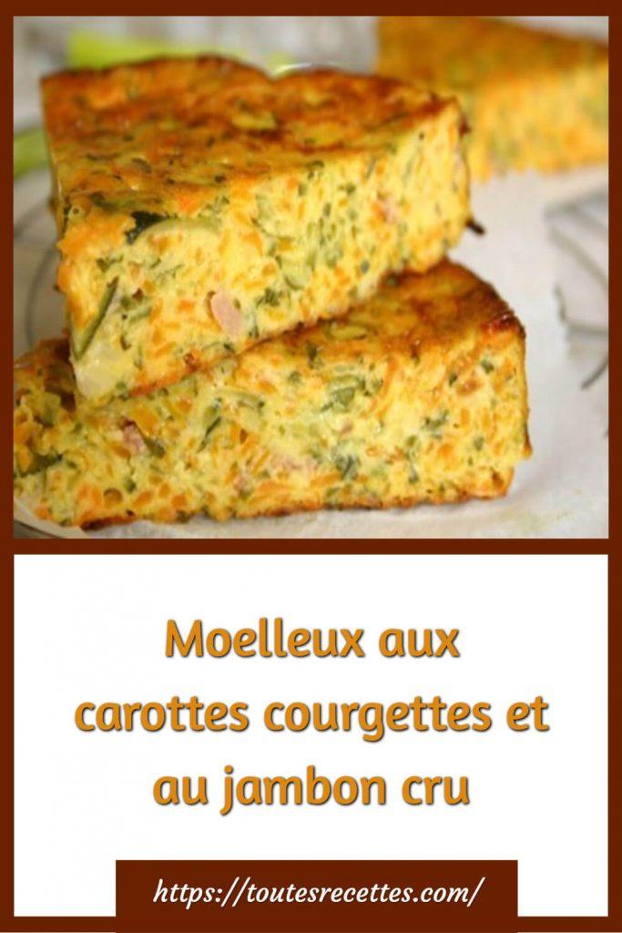 Comment préparer le Moelleux aux carottes courgettes et au jambon cru