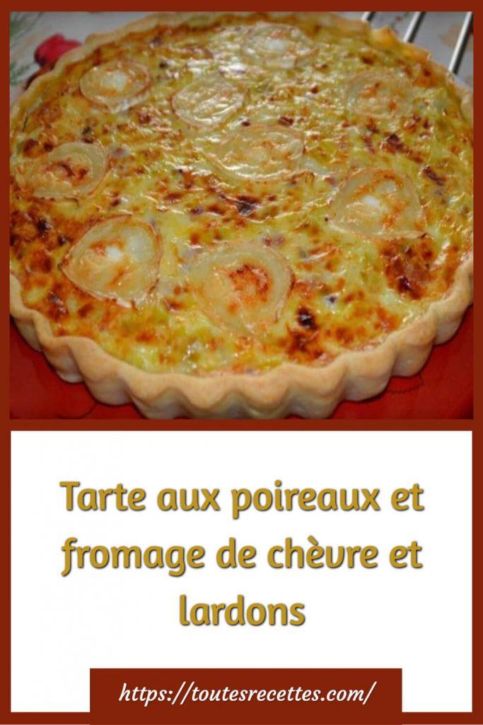 Comment préparer la Tarte aux poireaux et fromage de chèvre et lardons