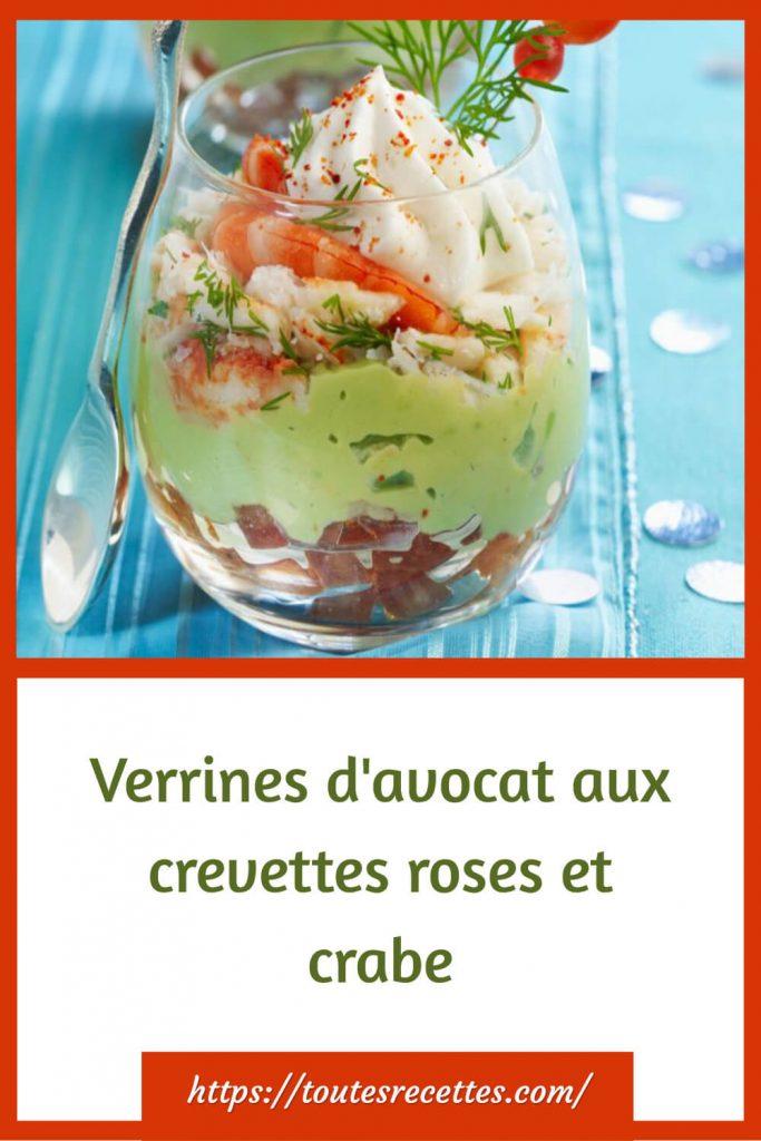 Comment préparer les Verrines d'avocat aux crevettes roses et crabe